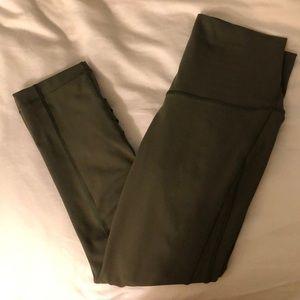 Cropped olive green leggings lululemon